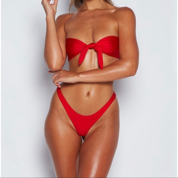 low price sale sneakers for cheap best supplier MESHKI Red Bikini 🔥🔥🔥 Price firm NWT